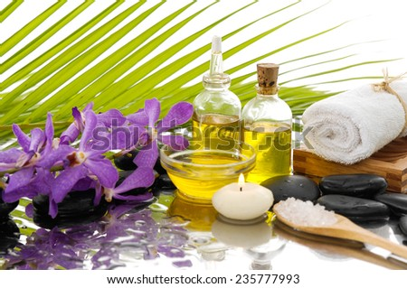 Tropical Spa setting Background  - stock photo