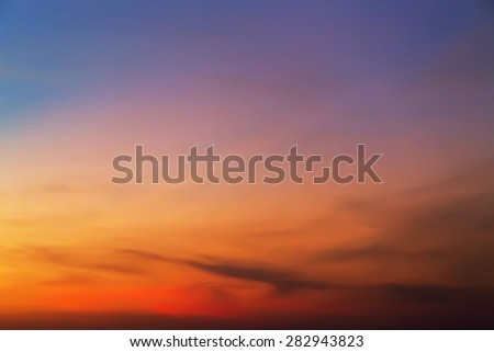 tropical sunset summer sky background - stock photo