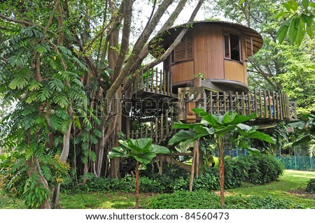 Tropical Tree House - stock photo
