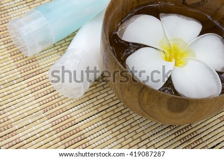Tropical wellness spa - stock photo