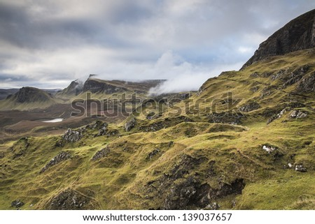 Trotternish ridge on the Isle of Skye - stock photo