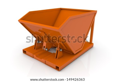 Troughs container - stock photo