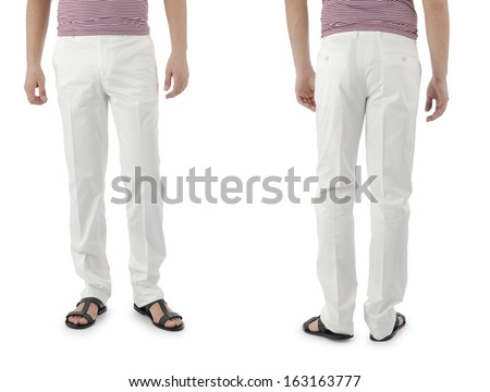 Trousers on the model isolated - stock photo