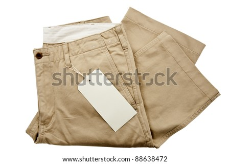 Trousers with tagging - stock photo