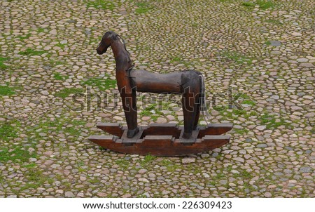 Troy horse, wooden horse - stock photo