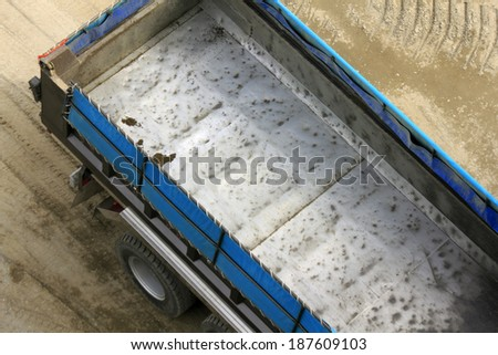 Truck at construction site - stock photo