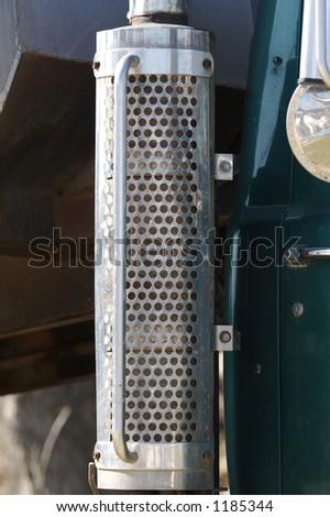 Truck Exhaust Detail - stock photo