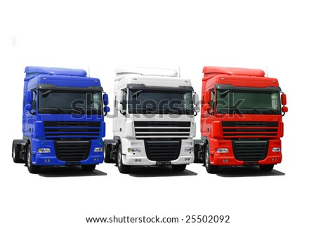 Truck fleet - stock photo