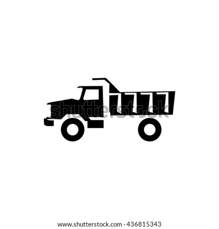 truck icon stock illustration - stock photo