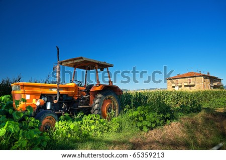 Truck in countryside. - stock photo