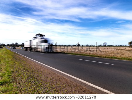 Truck in the road - stock photo