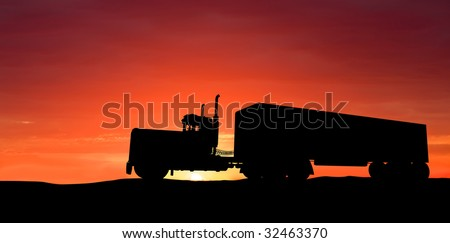 Truck on road - stock photo