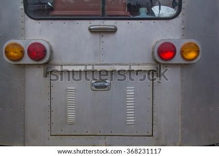 Truck taillight. - stock photo