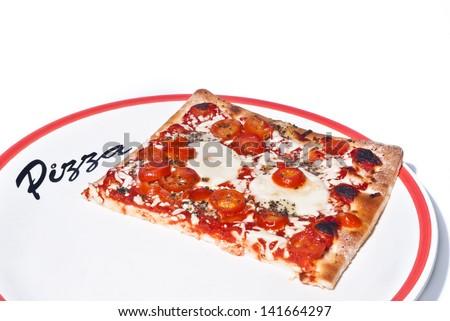 true Italian Pizza. Traditional Pizza Margherita - stock photo
