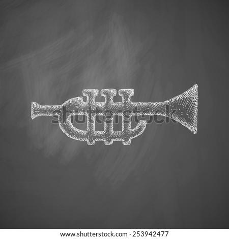 trumpet icon - stock photo
