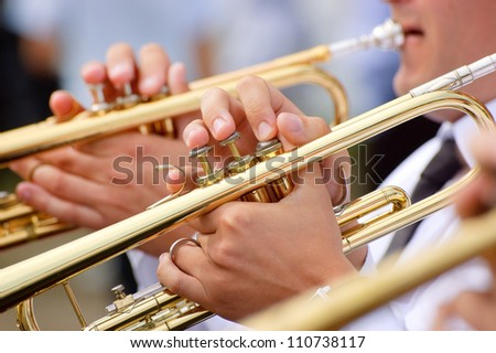 Trumpet theme - stock photo