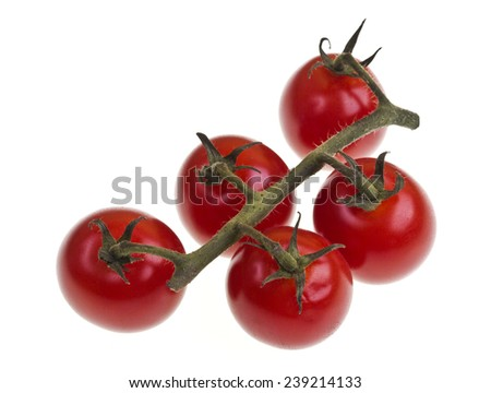Truss cherry tomatoes  - stock photo