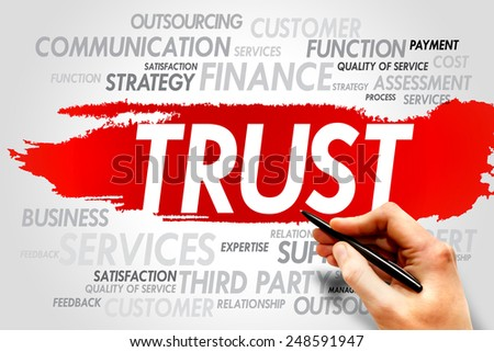 TRUST word cloud, business concept - stock photo
