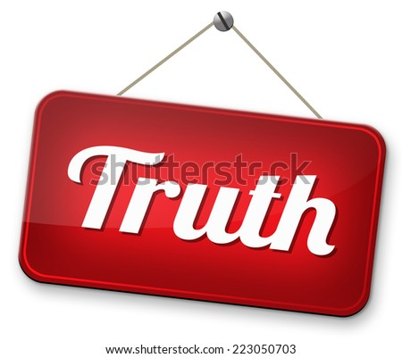 truth be honest uncover lies honesty leads a long way find justice law and order  - stock photo