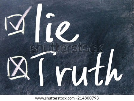 truth or lie judge  - stock photo