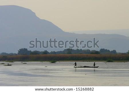 Tsiribihina river - Madagascar. - stock photo