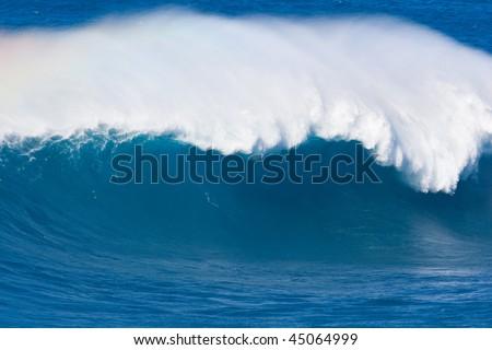 Tsunami, Large Ocean Wave - stock photo
