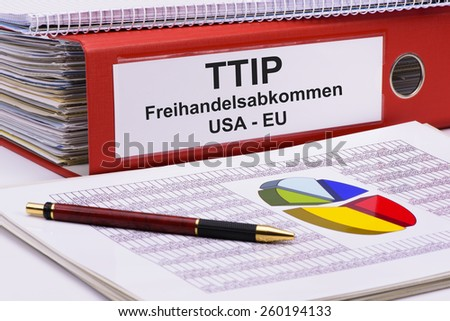 TTIP Transatlantic trade and investment partnership - stock photo