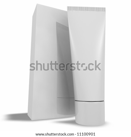 Tube and Box - stock photo