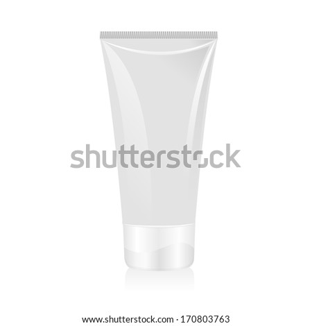 Tube of cream isolated - stock photo