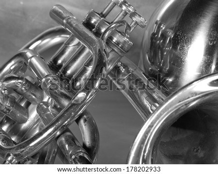 tube on gray background - stock photo