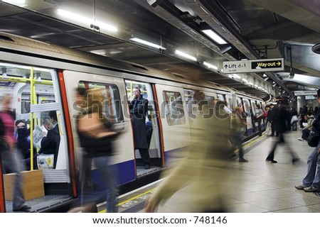 Tube Train - stock photo