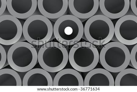 Tubes Look Through - stock photo