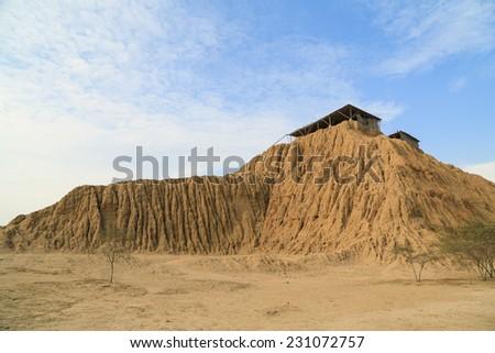 Tucume adobe pyramids. Ruins of Pre -Inca - stock photo