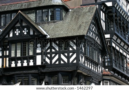Tudor style shop in Chester UK - stock photo