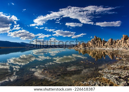 Tufa formations at Mono Lake, California - stock photo