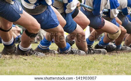 Tug of war competition. - stock photo
