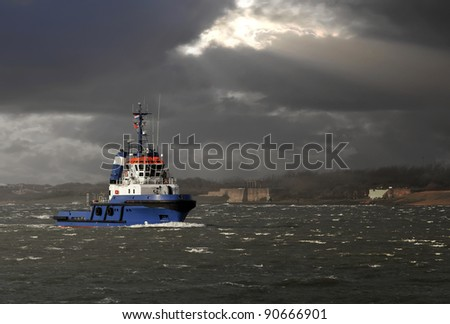 Tugboat - stock photo