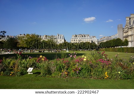 Tuileries Garden - Paris, France - stock photo