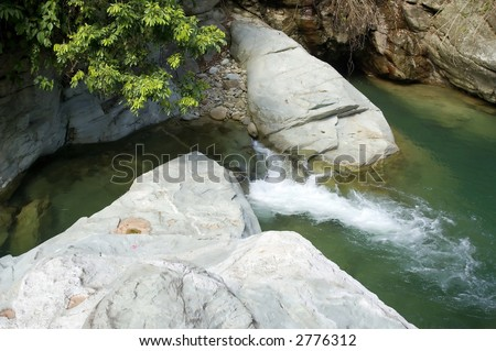 Tukuran falls on Mindoro in Philippines - stock photo