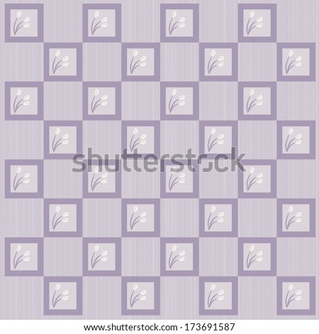 Tulips and Squares  - stock photo