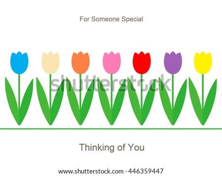 Tulips - Thinking of You - stock photo