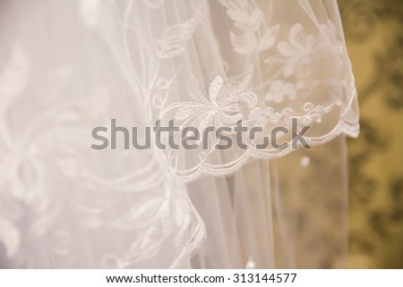 Tulle chiffon texture background. wedding concept. Bridal accessories. Female decoration for girl. Details for marriage and for married couple - stock photo