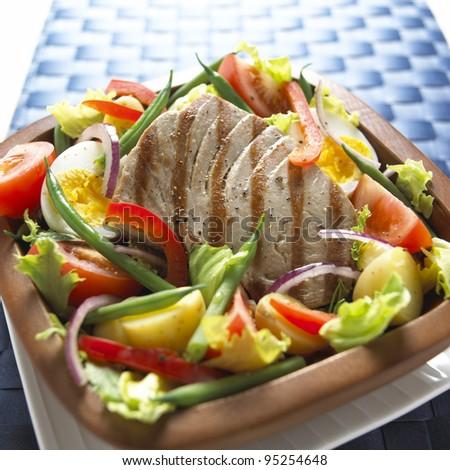 Tuna Nicoise Salad - stock photo