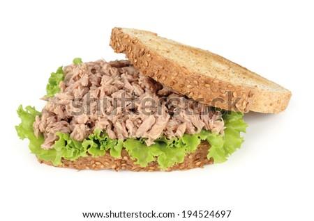 tuna sandwich - stock photo