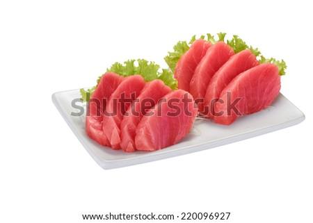 tuna sashimi - stock photo