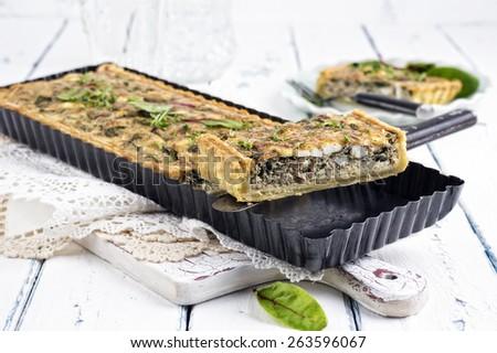 Tuna Tarte - stock photo