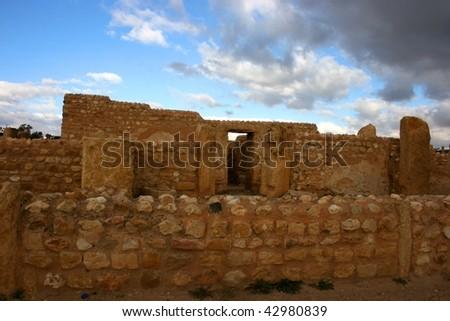 Tunisia. Ancient Sufetula (present day Sbeitla). The baths - stock photo
