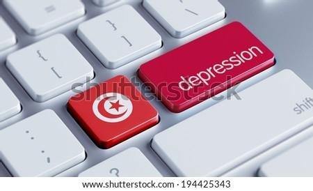 Tunisia High Resolution Depression Concept - stock photo