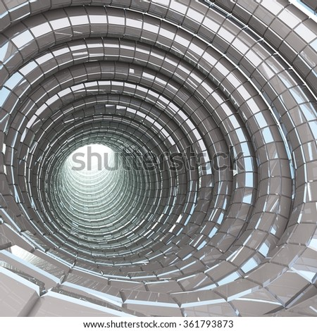 tunnel cave modern 3d render - stock photo