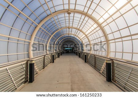 Tunnel passage - stock photo